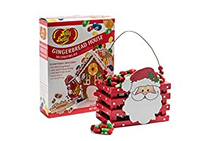 Happy Holidays, Merry Christmas, Jelly Belly Gingerbread House DIY Kit and Reindeer Corn Wooden Crate Gift Set, Tasty, Unique Christmas Gift for the Whole Family!