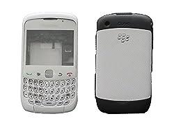 Blackberry Curve 9300 Full Housing Body Panel Faceplate White FREE SIM ADAPTER