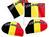 4 tlg. Alsino Belgien WM Fanartikel Auto Fanset Fanpaket AutoflaggenSpiegelüberzug Autofahne