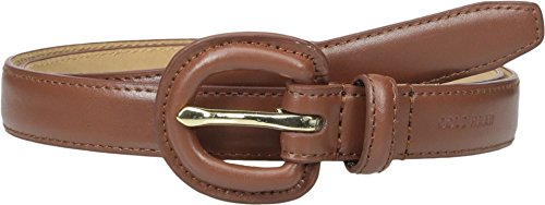 Cole Haan Women's 7/8 Inch Dress Calf Belt with Matching Covered Buckle, Woodbury, Small (Cole Haan Brown Belt compare prices)