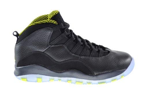 Air Jordan Retro 10 Men's Basketball Shoes Black/Venom Green-Cool Grey-Anthracite 310805-033 (11 D(M) US) (Air Jordan 10 Retro Cool Grey compare prices)
