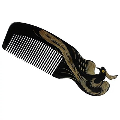 eyx-formula-natural-horn-comb-phoenix-carving-combno-static-black-buffalo-horn-wide-tooth-comb-craft