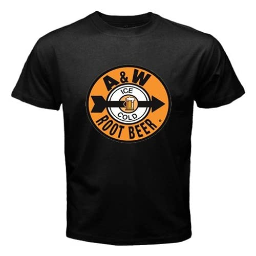 "Amazon.com: A&W ROOTBEER SODA LOGO New Black T-Shirt Size ""3XL"