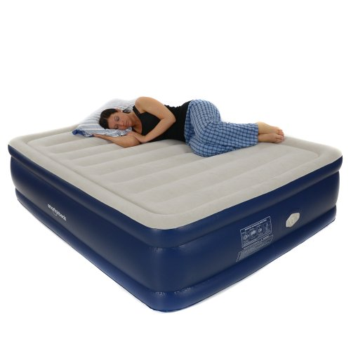 Smart Air Beds Platinum Queen Raised Air Bed with Remote Control, Blue