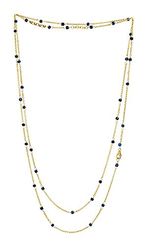 """Olivia by Amanda Sterett Gemstone and Gold-Tone Chain Necklace, 52"""""""