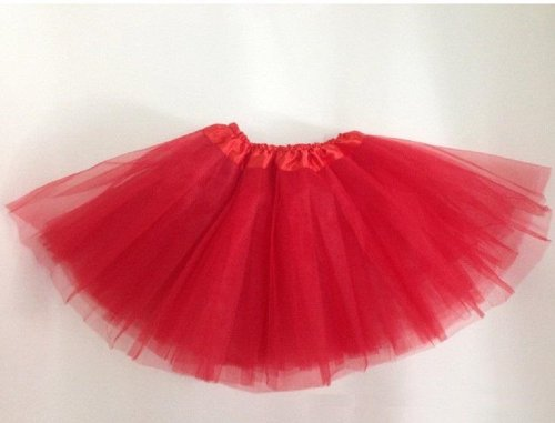 Solid Color Basic Tutu for Toddlers and Girls - 12 Colors Available! (Red)