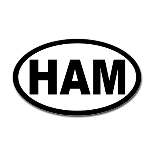 CafePress - Ham Amateur Radio Oval Sticker - Oval Bumper Sticker, Euro Oval Car Decal (Ham Radio Decal compare prices)