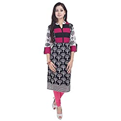 Shree Nath Print Women Kurti PINK-XL