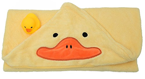 Hooded Bath Towel and Rubber Ducky Set, Newborn to Toddlers, Boys or Girls - Great Baby Shower Gift (Hot Tub Hat compare prices)