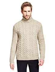 Best of British Pure Wool Cable Knit Jumper