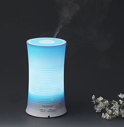 Arova Ultrasonic Essential Oil Diffuser Aromatherapy Cool Mist Humidifier with Relaxing & Soothing Multi-colour LED Light Perfect for Home, Office, Spa, Baby Room Etc