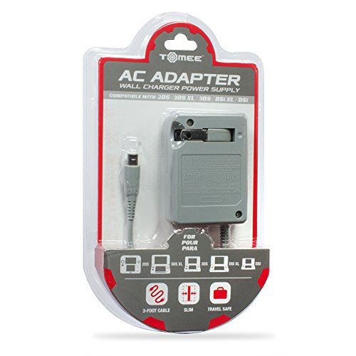 AC Adapter for New 3DS/ New 3DS XL/ 2DS/ 3DS XL/ 3DS/ DSi XL/ DSi - Tomee (3ds Ac Adapter Nintendo compare prices)