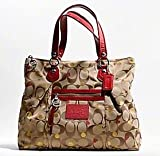 41BNhe3EmkL. SL160  NEW AUTHENTIC COACH POPPY SECRET ADMIRER GLAM HANDBAG TOTE (Khaki/Red)