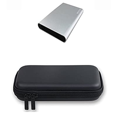 Storite [ COMBO OF ] 2.5 Inch SATA to USB 3.0 External Hard Drive Round Enclosure/Caddy SILVER & EVA Pu Leather...