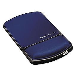 Fellowes 9175401 Gel Wristrest Mousepad Sapphir
