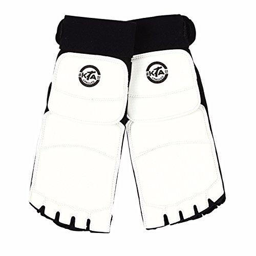 lecaf-taekwondo-fuss-protektor-gear-guard-martial-arts-displayschutzfolie-sparring-gear-herren-weiss