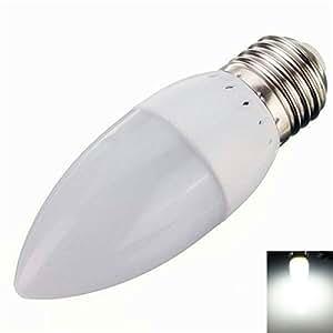 E27 3W 10 LED 2835SMD 6000K-6500K Pure White Light Cusp LED Candle Lamp