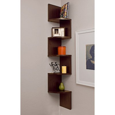 Corner Zig Zag Wall Shelf (878073009080)