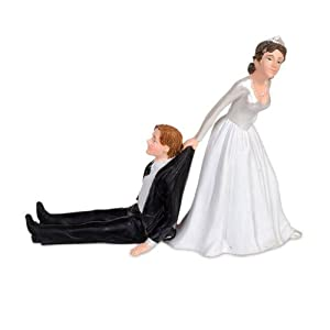 Groom Dragged Away By Bride Cake