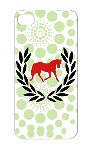 Tpu Outside Cartoon Farm Zoo Love Fole Life Creature Wild Horses Show Rain Pony Horses Hoof Animals Nature Hay Forest Nature Baby Cute Horse Adventure Neigh Animal Animals Cover Case For Iphone 5S Red Laurel Wreath Horse