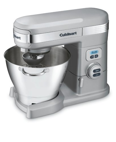 Hot Deal Cuisinart SM-55BC 5-1/2-Quart 12-Speed Stand Mixer, Brushed Chrome  Review