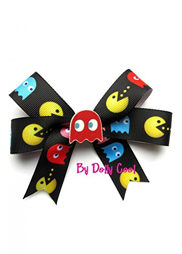 dolly-cool-pac-man-retro-arcade-geeky-lazo-con-clip-color-negro