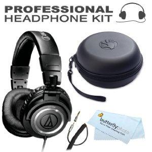 Audio-Technica ATH-M50 Professional Studio Monitor Headphones ( earphone ) ( earphone ) BONUS Slappa SL-HP-01 headphone Case (Black) [parallel import goods]