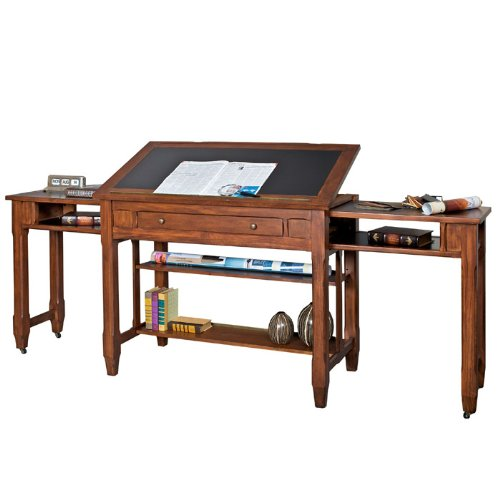 Portland Loft Architect's Desk Clove Finish - ANTIQUE DRAFTING TABLE. ANTIQUE DRAFTING