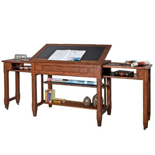 Portland Loft Architect's Desk Clove Finish - ANTIQUE DRAFTING TABLE