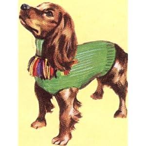 vintage knitting pattern dogs.