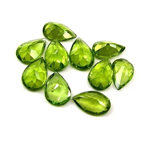 Natural Peridot Aaa Quality Loose Gemstone 4X3 Mm Faceted Pear 25 Pieces Lot From Dashrath International front-1079673