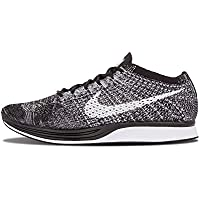 Nike Unisex Flyknit Racer Running Shoes (Black/White)