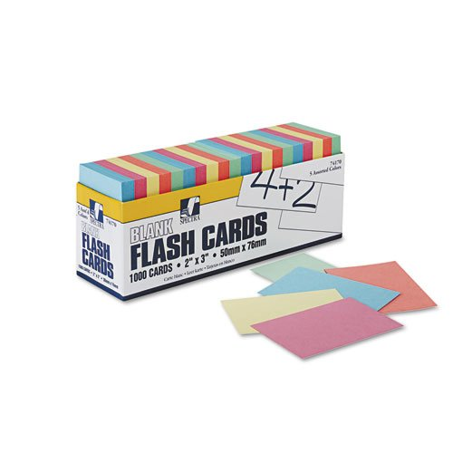 Blank Flash Card Dispenser Box Card Size 2'' x 3'' 1000 cards - 1