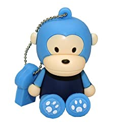Ricco ® Baby Monkey USB High Speed Flash Memory Stick Pen Drive Disk (16GB SIT BLUE)