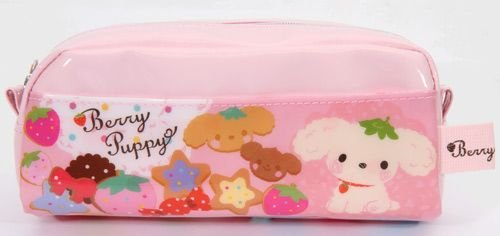 pink Berry Puppy dog pencil case by San-X Japan