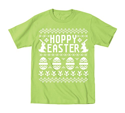 Ugly Sweater Happy Easter Holiday Fun - Toddler T-Shirt - Key Lime - 3T