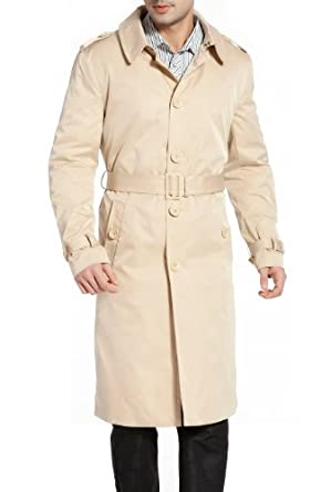 Buy BGSD Mens 'Ethan' Traditional Single Breasted Trench Coat