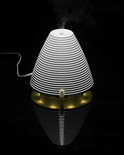 QUOOZ Ripple Ultrasonic Aromatherapy Essential Oil Diffuser, Classic, Quiet Diffuser with Auto Shut- Off