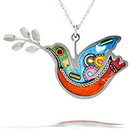 Turquoise Peace Dove Necklace from the Artazia Collection #062OR JN NN