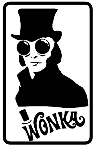 Willy Wonka Decal Vinyl Sticker|Cars Trucks Walls Laptop|BLACK|5.5 In|KCD449