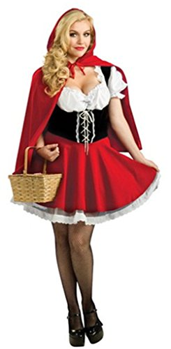 [Roundshop Women's Halloween Costume Little Red Riding Hood Dress and Cloak L] (League Of Legends Annie Cosplay Costume)