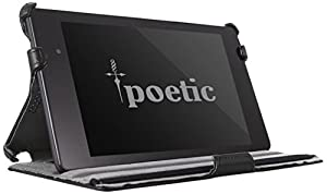 Poetic StrapBack Case for Google Nexus 7 2nd Gen 2013 Android Tablet Carbon Fiber Black (3 Year Manufacturer Warranty From Poetic)