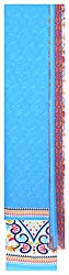 Mahek Fashion Women's Silk Unstitched Dress Material (Blue, Pink and Yellow)