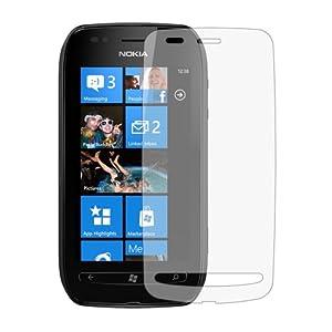 6 x Membrane Pellicola Protettiva per Nokia Lumia 710 - Crystal Clear (Invisible), Antigraffio Protezione Schermo, Confezione Originale ed accessori