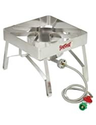 Bayou Classic SS84 Stainless Steel Brew Stove with Windscreen by