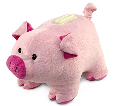 Puzzled Pig Plush Huggie Bank - 1