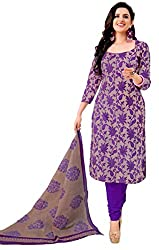 Trendz Purple Printed Dress Material(TD_Sultan_Purple)