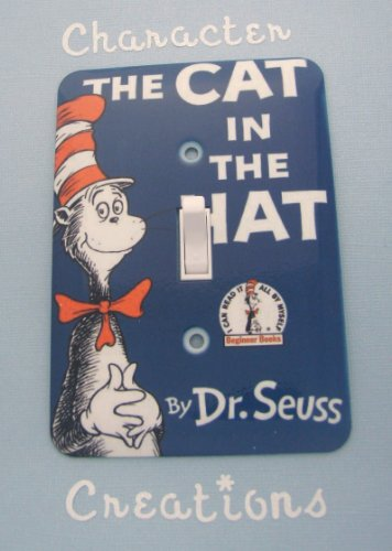 The Cat In The Hat Standard Metal Light switch Cover (Switch plate Switchplate)