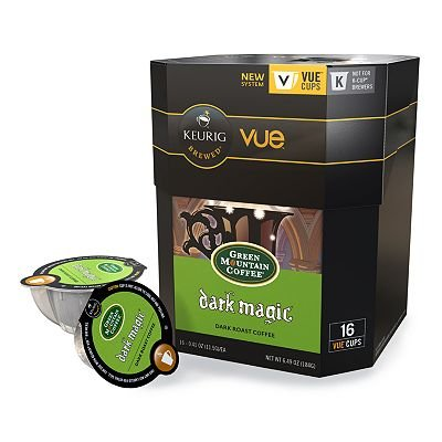 16 Count - Green Mountain Dark Magic Vue Cup Coffee For Keurig Vue Brewers front-567703