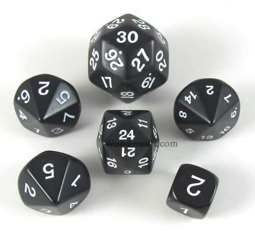 Black Special Who Knew 6 Dice Set